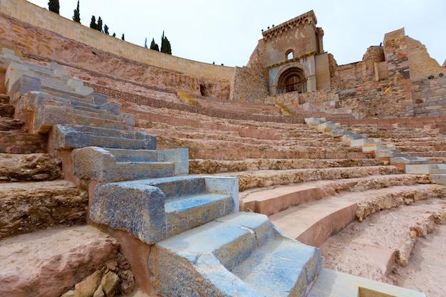 Cartagena roman amphitheater in murcia spain