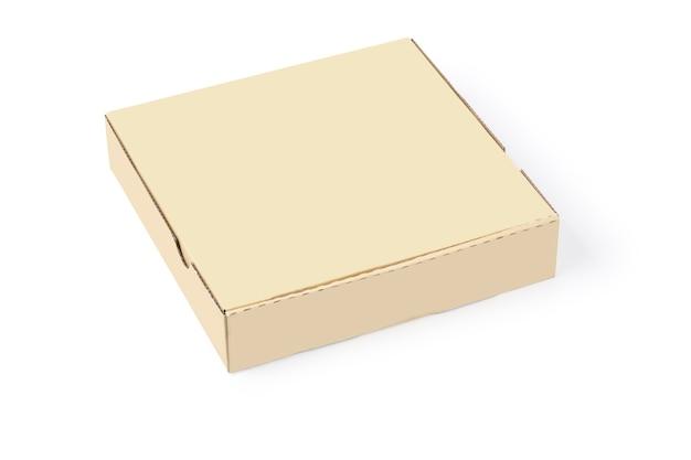 白で隔離されるカートン ボックス
