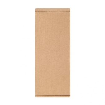 Carton box one. isolated on white.
