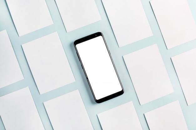 Carton cards and phone