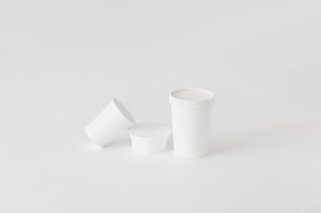 Carton cups for dairy produce