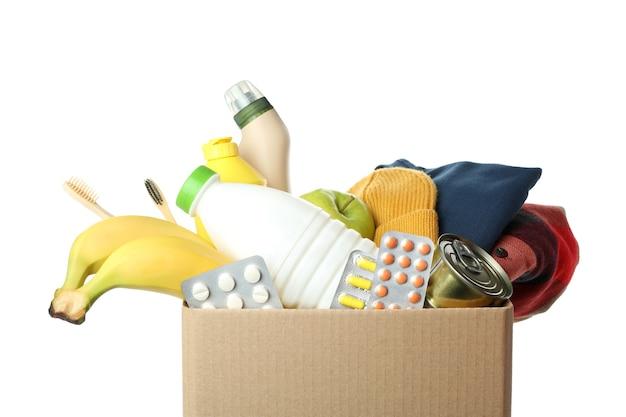 Коробка для пожертвований, изолированные на белом фоне