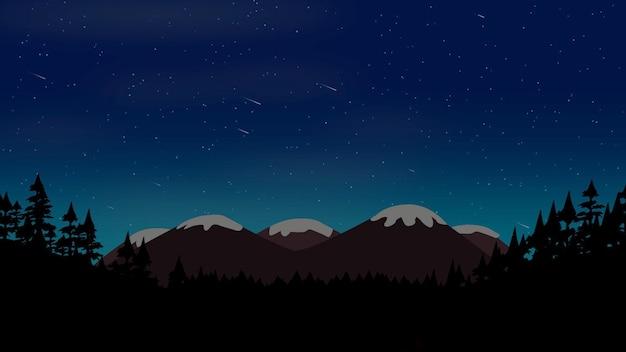 森と山、抽象的な背景と漫画の背景