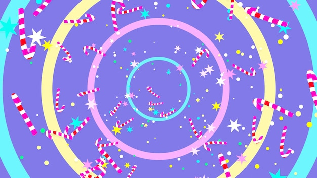 Cartoon christmas gingerbread man and candy cane pattern background 3d rendere picture