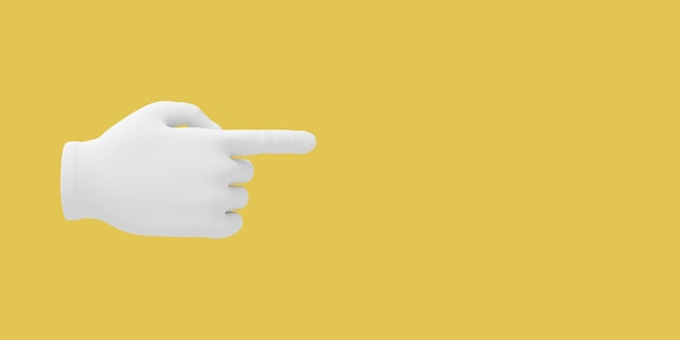 Cartoon hand with index finger poiting