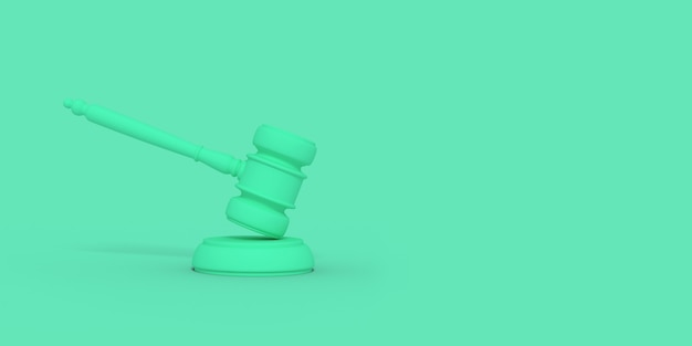 Cartoon judge's gavel