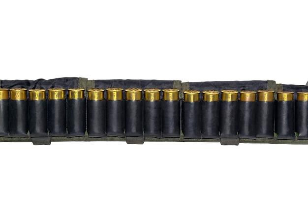 사냥용 가죽 벨트가 있는 카트리지 벨트 및 평활 산탄총용 스포츠 카트리지