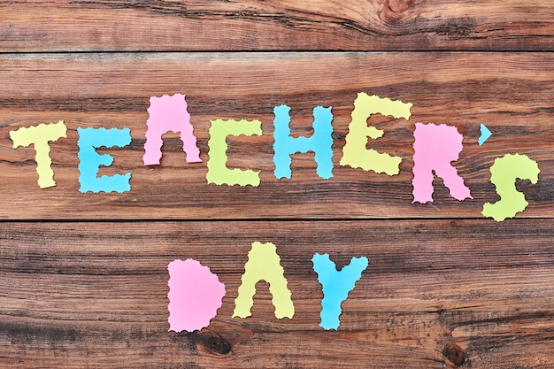 Carved paper letters. celelebrate teacher's day with fun.