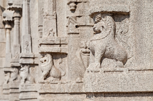 Carving on temple