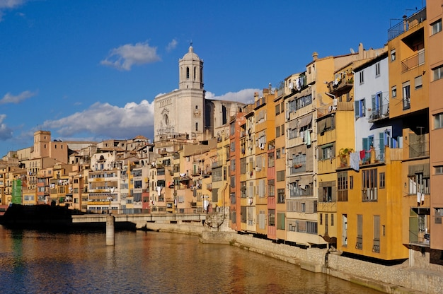 Casas onyar in old town of girona