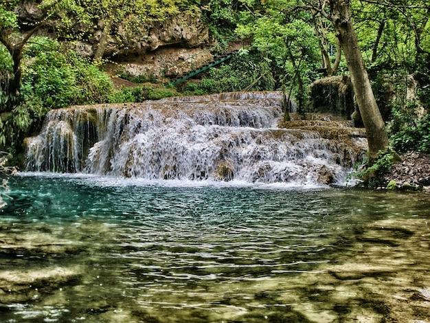 Каскадный водопад крушуна вода природа болгарии