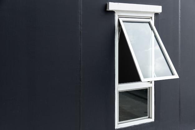Окно навесного окна открытие алюминиевой рамы upvc с пространством для текста