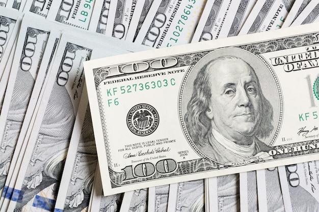 Cash dollar bills background