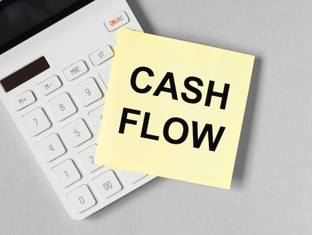 Cash flow statement on paper on office desk cashflow