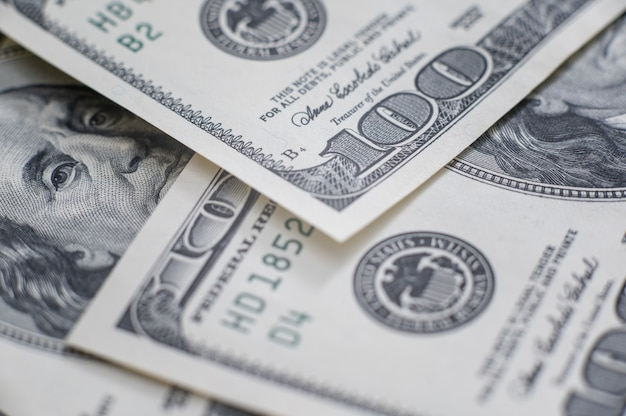 Cash of hundred dollar bills, dollar background image with high resolution
