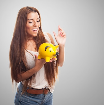 Cash retirement woman modern dream