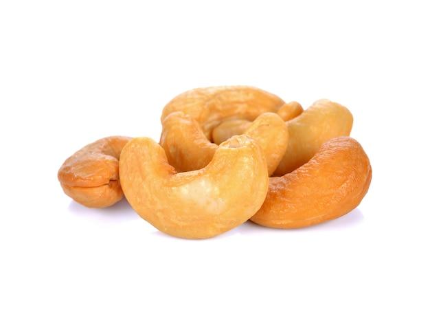 Cashew nut on white background