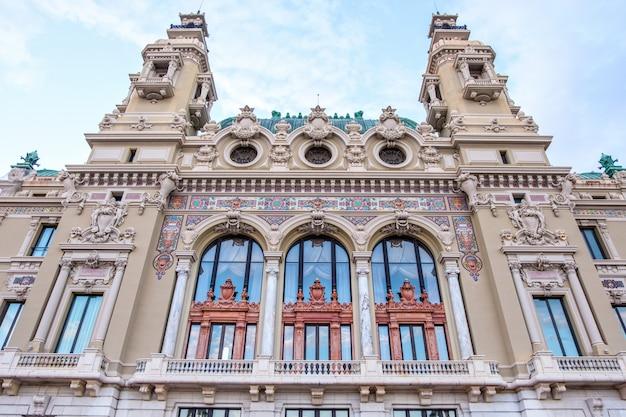 Casino monte carlo facade at sunset