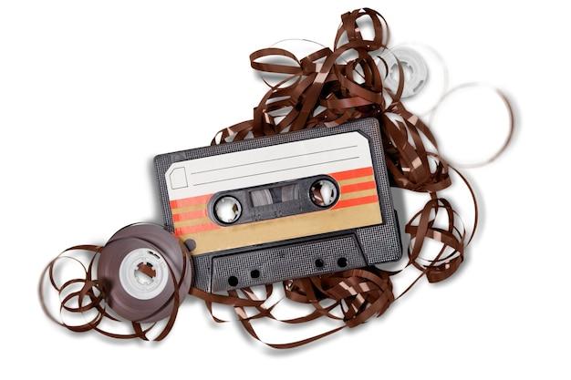 白で隔離カセットテープ