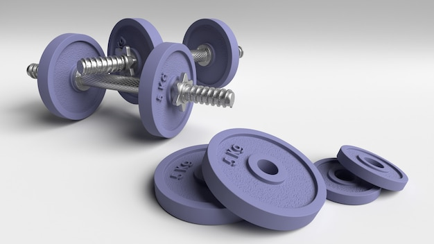 Cast iron dumbbell weights