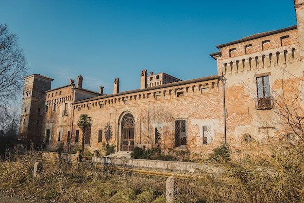 Castello di padernello. the padernello castle feels like castle out of fairy tale, with its working drawbridge and encircling moat. it was built at the end of the 14th century by the martinengo family