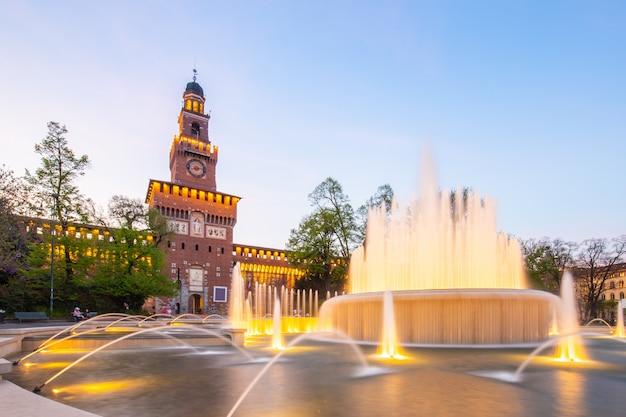 Castello sforzesco landmark in milan, italy