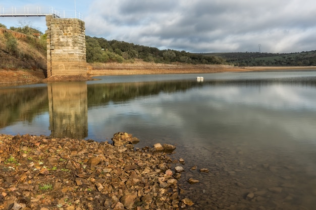 Castellum aquae. landscape in the natural park of cornalvo. extremadura. spain.