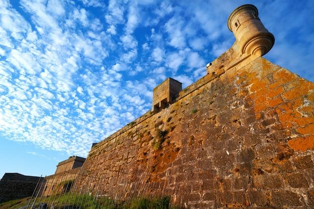 Castelo san anton in la coruna of galicia spain