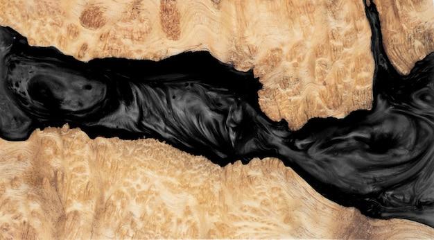 エポキシ樹脂の鋳造レザバールウッドの背景を安定化