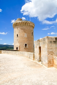 Castle castillo de bellver in majorca at palma of mallorca