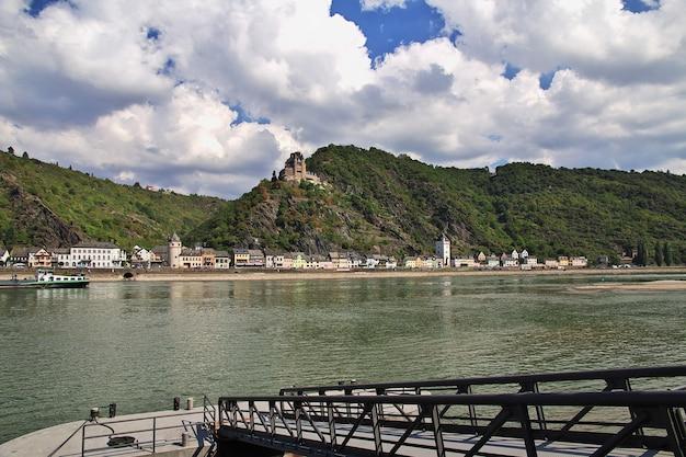 西ドイツのライン渓谷の城