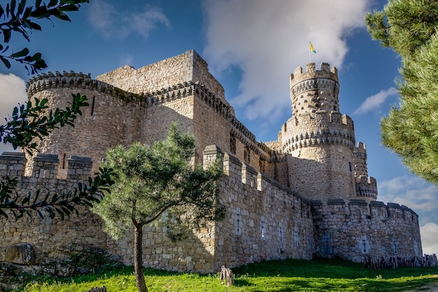 Castle of manzanares el real, is a palace-fortress of late medieval origin