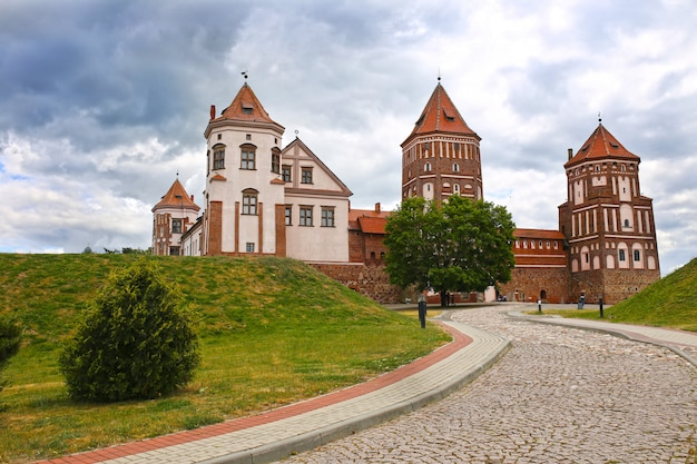 Castle of mir, belarus. mir castle complex.