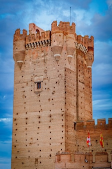 Castle of the mota, medina del campo, valladolid, spain