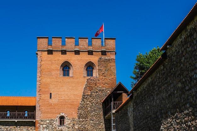Замок медининкай, средневековый замок в вильнюсском районе, литва.