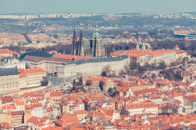 Castle of prague seen from above