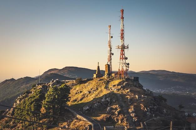 Castro de santa trega peak at the border between spain and portugal