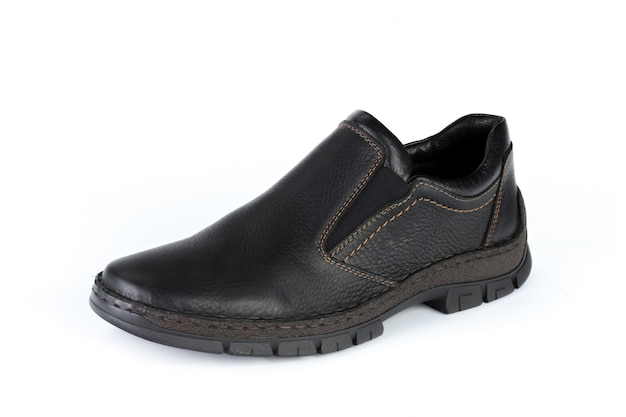 Casual male leather shoes isolated