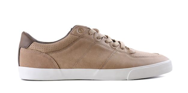 白のカジュアルな男性の靴