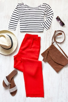 Casual spring/summer female clothing set.