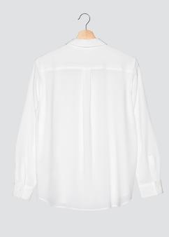 Повседневная белая блузка женская мода