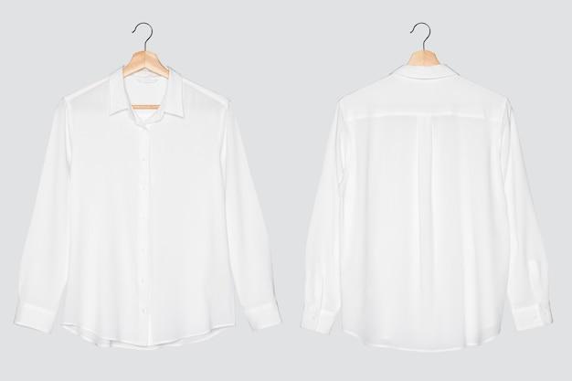 캐주얼 화이트 블라우스 여성 패션