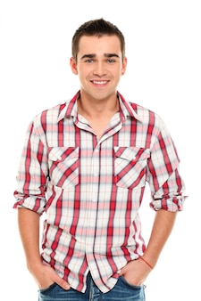 Casual young man posing