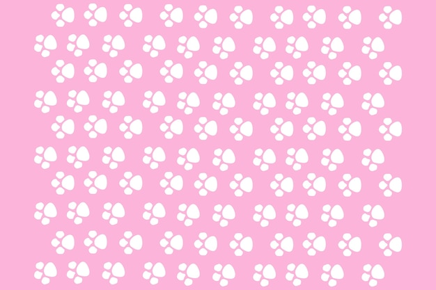 Cat's paws on a pink background, seamless pattern for print design