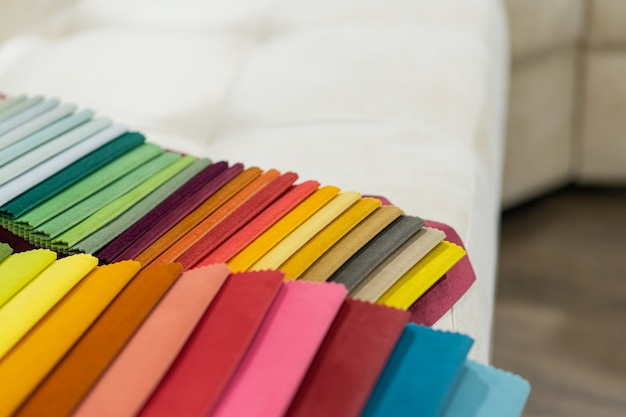 Catalog of multicolored cloth from matting fabric