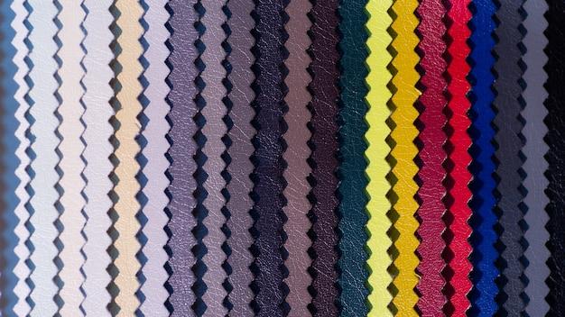 Catalog of multicolored imitation leather