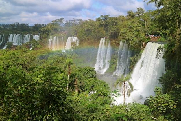 Cataratas del iguazu or iguazu falls at argentinian side,in puerto iguazu, argentina