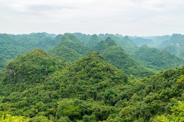 Catba島の山々
