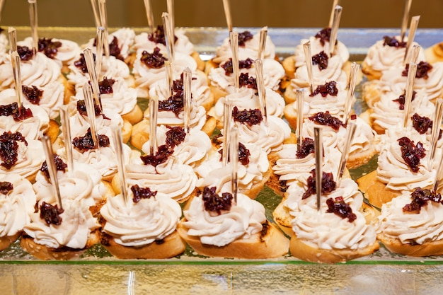 Catering food, various snacks for events, catering