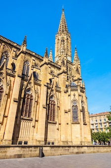 The cathedral of the good shepherd located in the san sebastian donostia city, basque country in spain